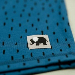 kurzarm Shirt – Striche – jeansblau