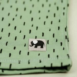 kurzarm Shirt – Striche – meeresgrün