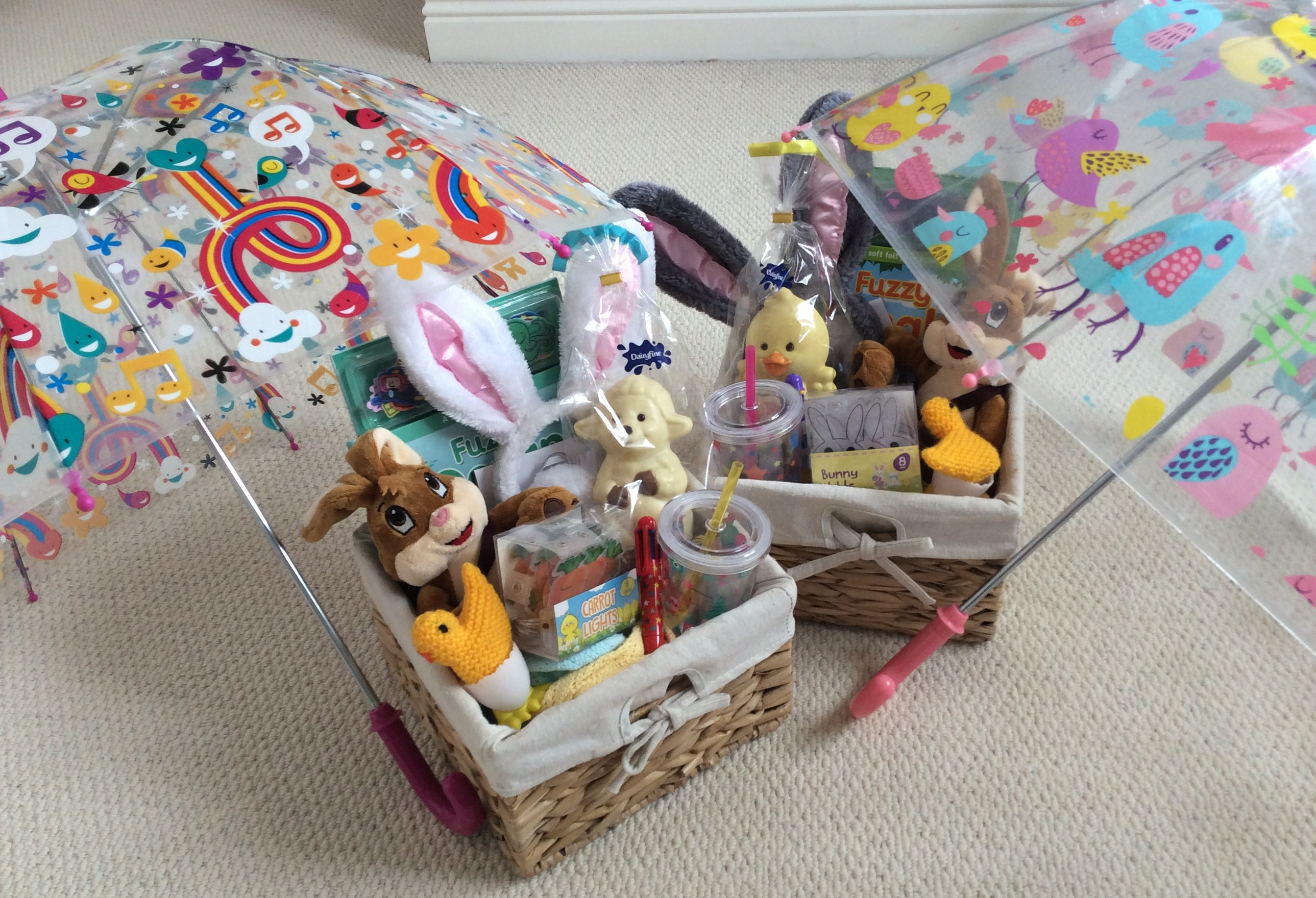 Easter baskets for toddler twins