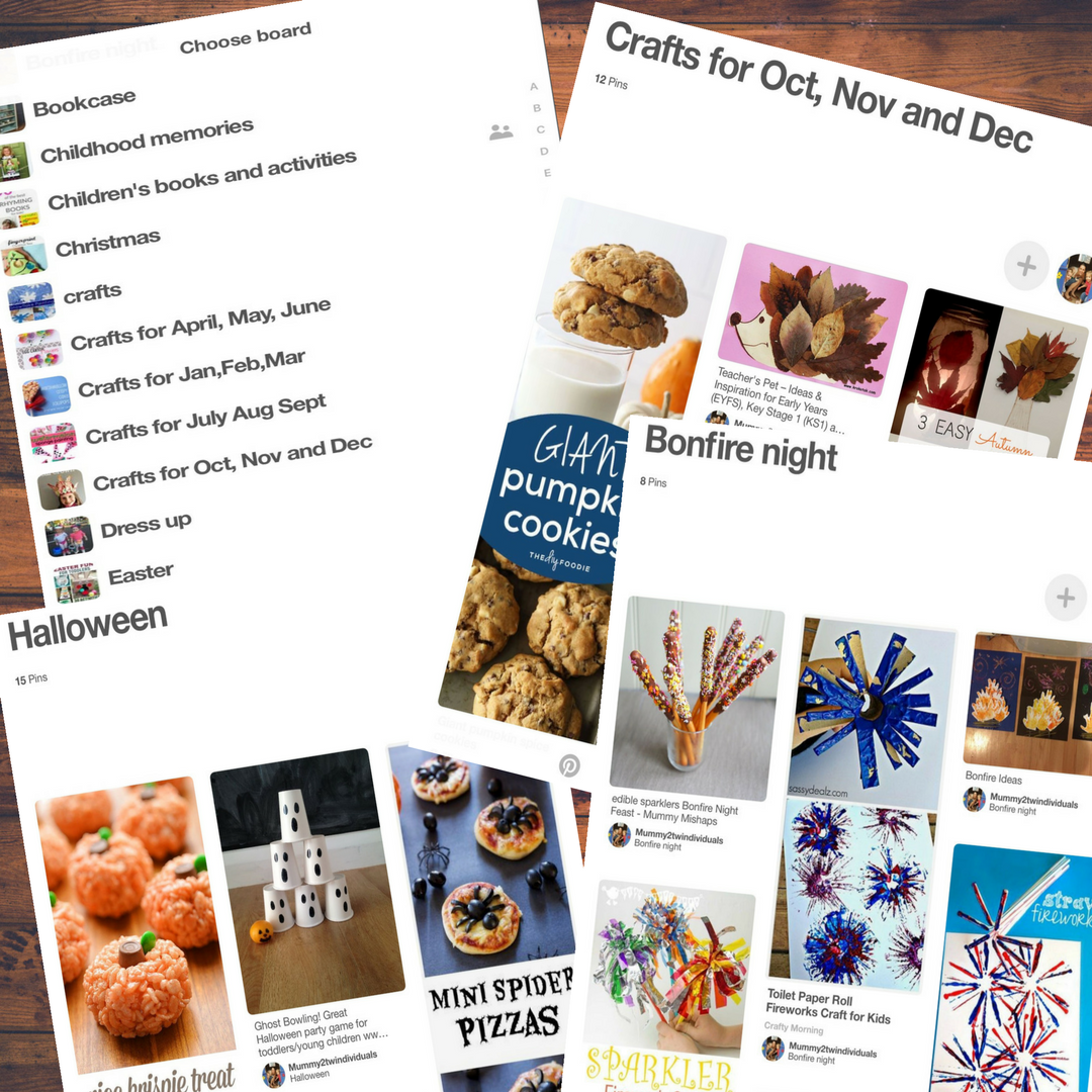 Organising with Pinterest