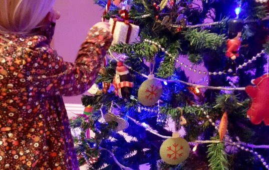 How to stop children touching Christmas decorations