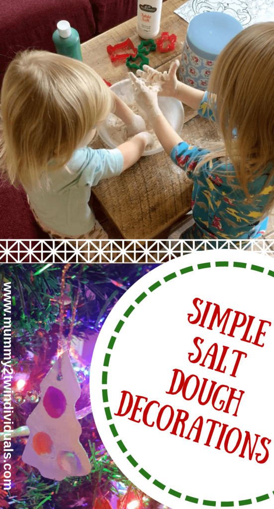 Simple salt dough decoration to make with kids