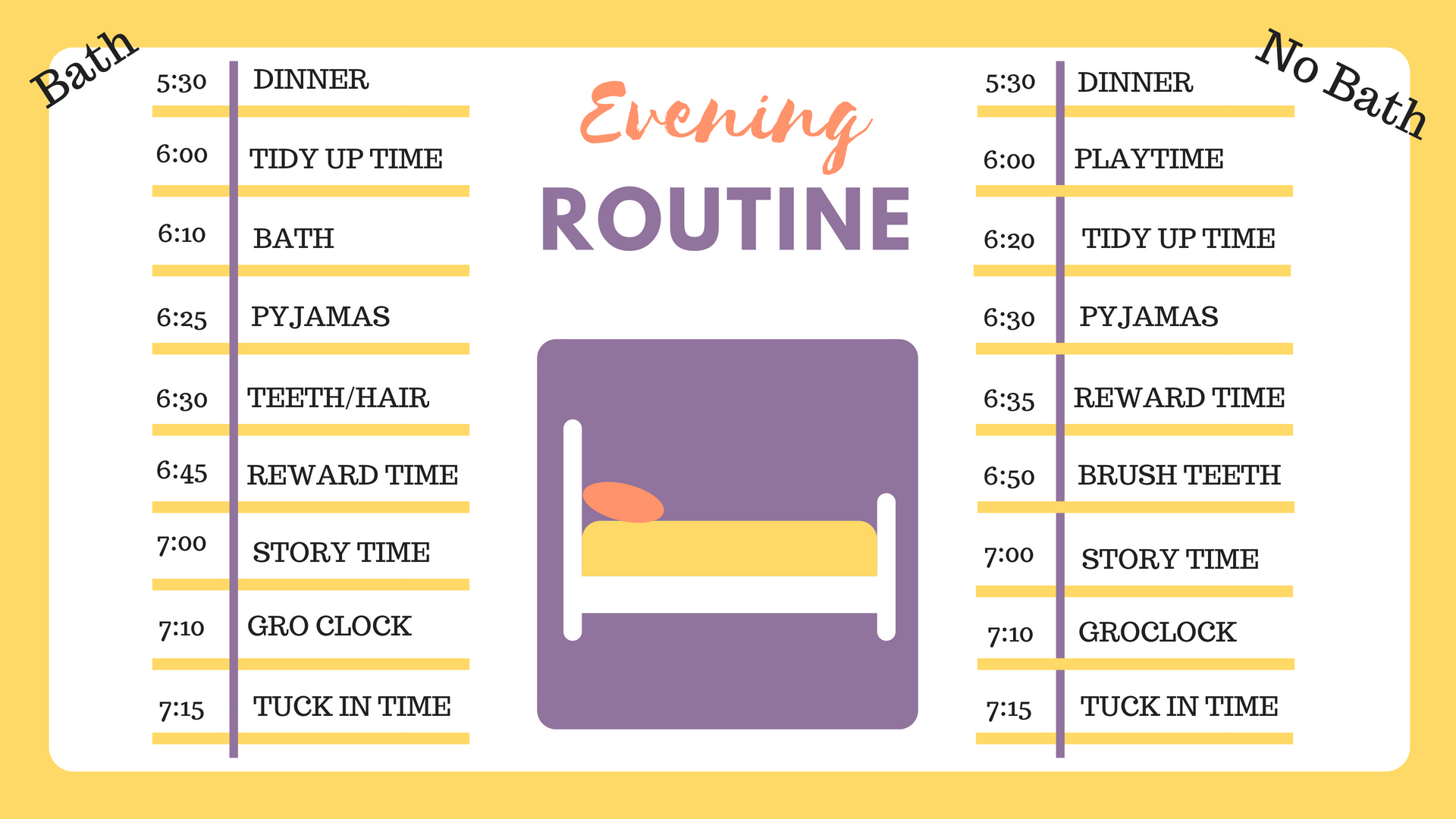 Evening Routine With Preschool Twins With Free Printable