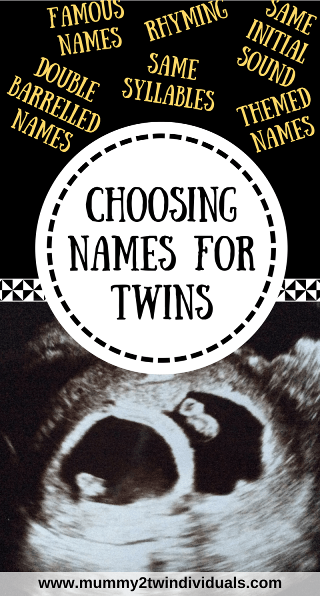 It can be hard to choose names for twins. Here are a few different ways you may opt to select names that go well together.