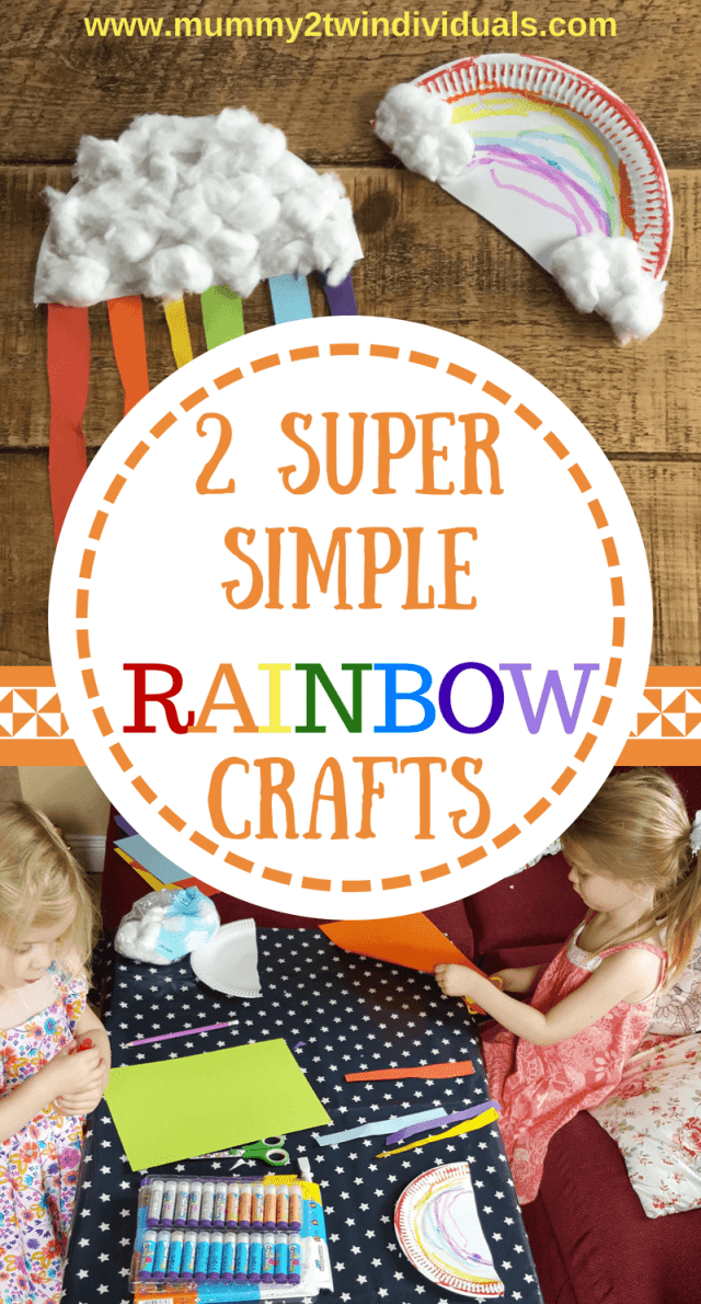 Super simple rainbow crafts that preschool children can do themselves. Practise cutting in a straight line and gluing.