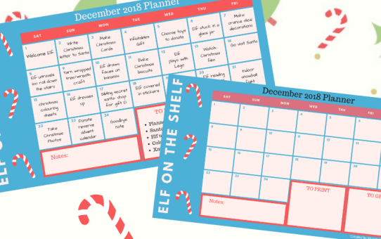 Elf on the Shelf: Planner and Printables to make December Magical