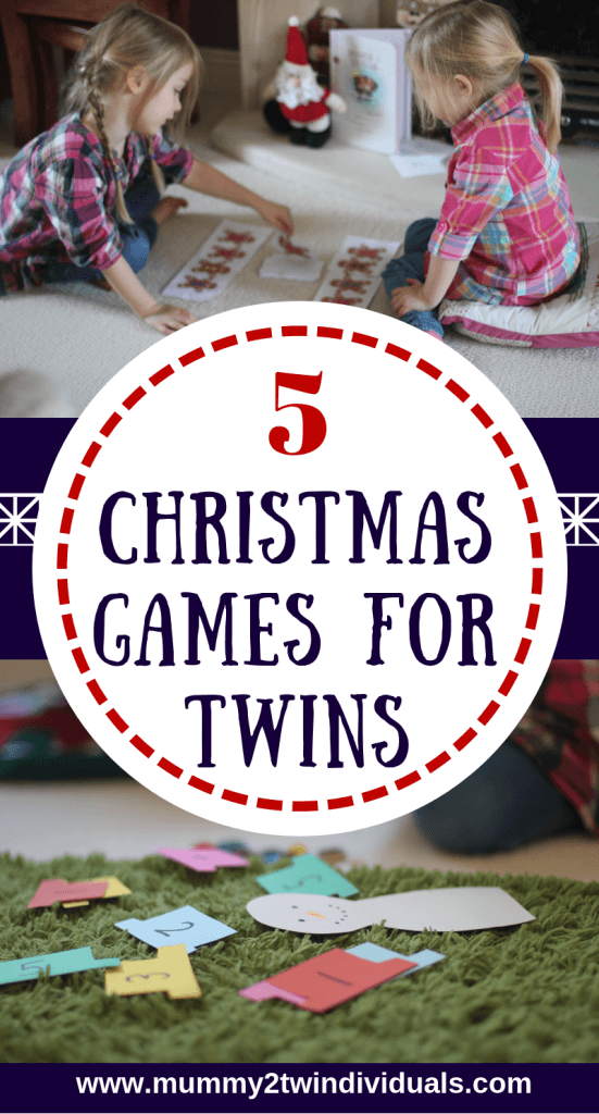 christmas game ideas for twins or preschool children. fun festive games to play together.