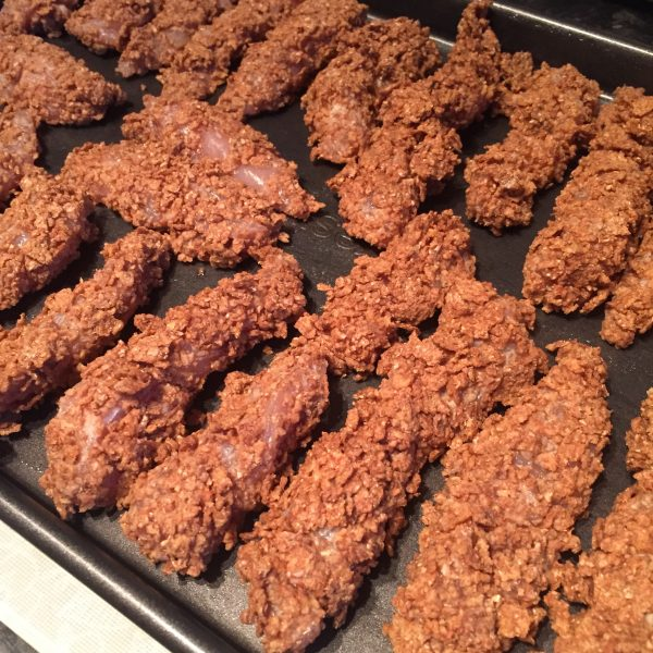 Cereal Chicken Goujons (dairy, egg, nut, soya free)