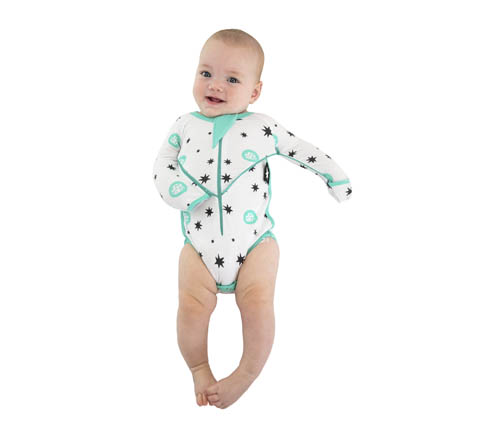 Sleepy Bub, zip swaddle, onesie zip, zip arms onesie, arms zip down