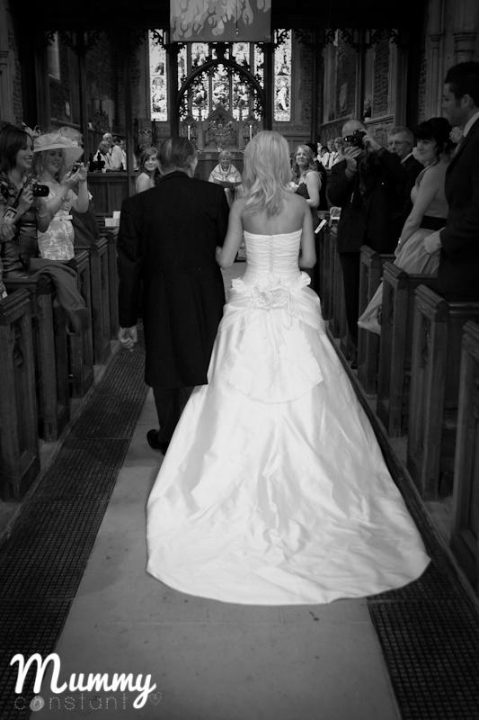 Me and Grandad, walking me down the aisle