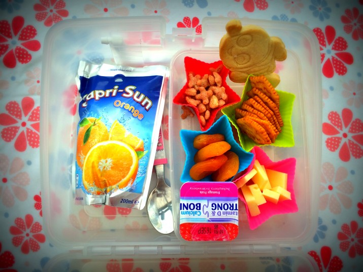 capri sun lunchbox set up photo