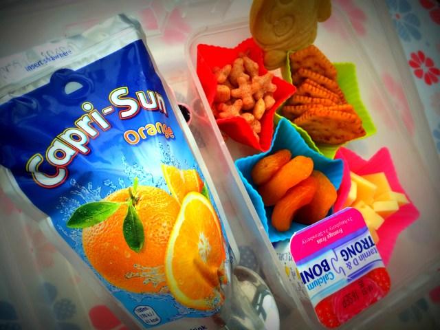 capri sun in lunchbox photo