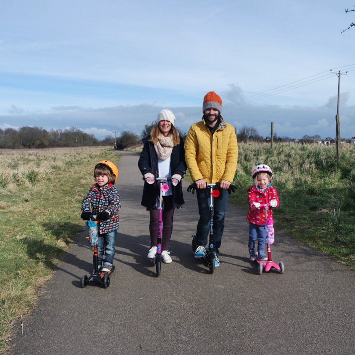 Our new Sunday scooting routine