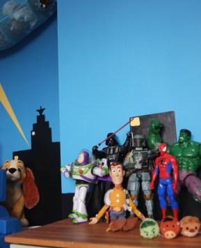 An easy Superhero theme for a little boys bedroom