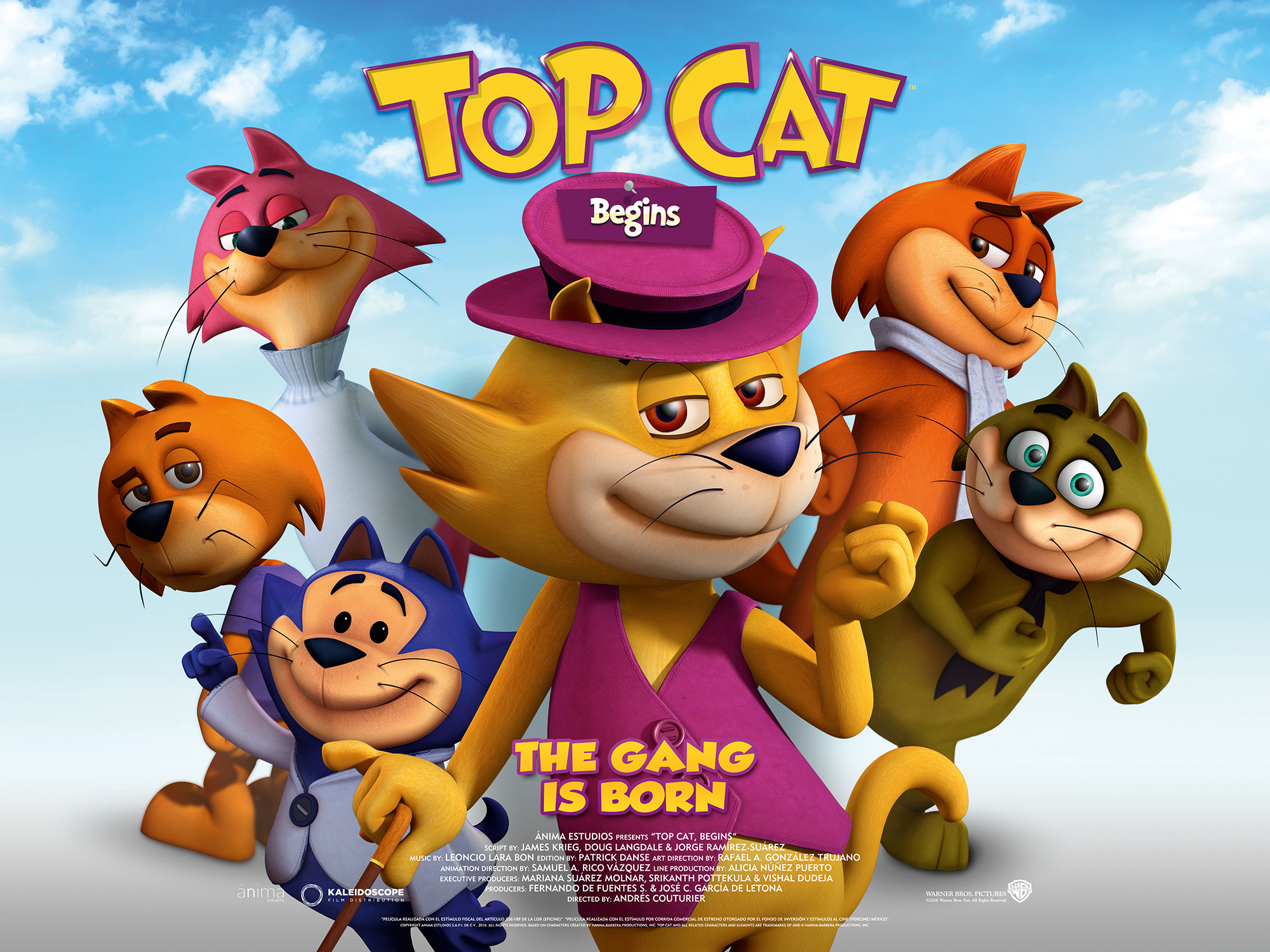 "Win a family DVD bundle with ""Top Cat Begins"" – in cinemas May 27"