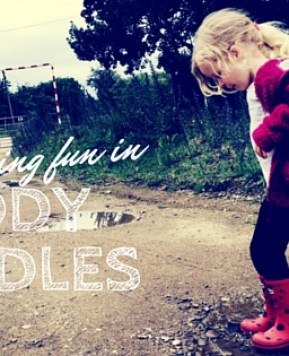 Having fun in muddy puddles