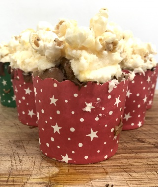 Butterkist Salted Caramel Popcorn Cupcakes