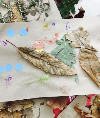 Children's autumn crafts for rainy days #BRCraftClub