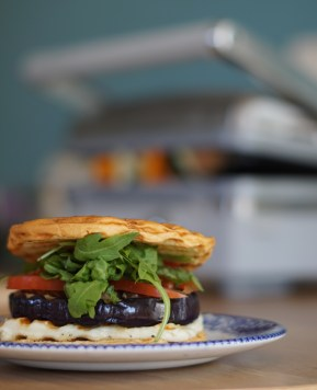 The indoor BBQ – Autumnal vegetarian burger #TurnOnYourCreativity #GrilledByBreville