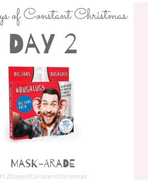 Win Mask-arade #12DaysofConstantChristmas Day 2