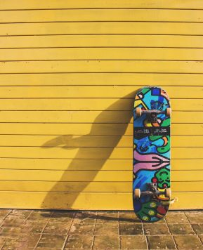 Trying something new: skateboarding with the family