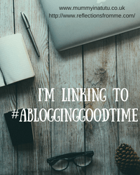 Blogging good time linky