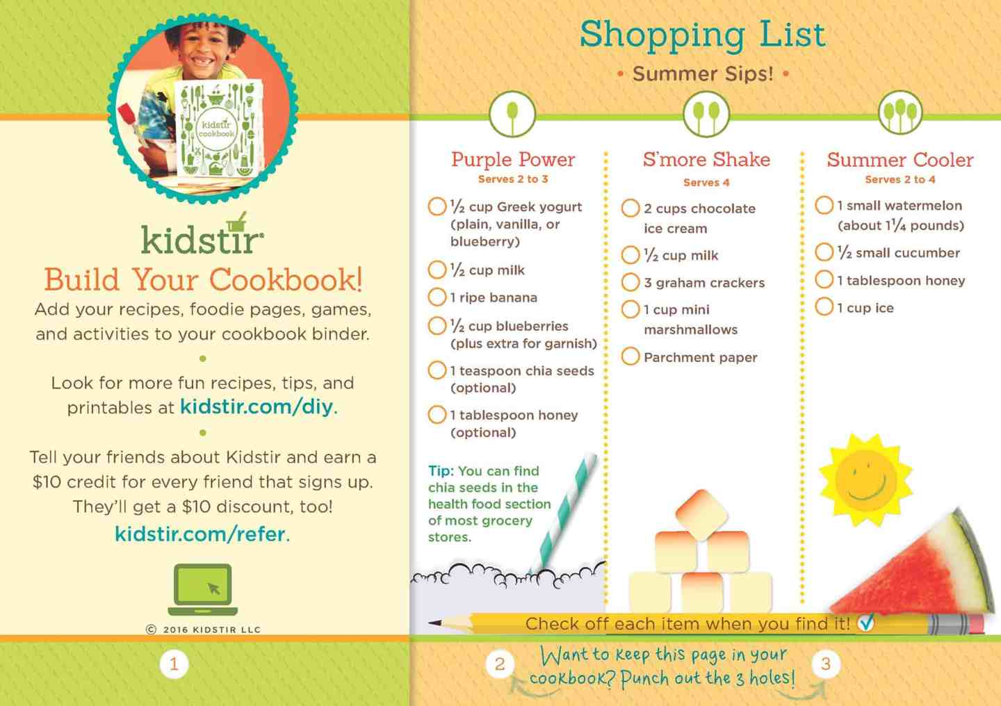 Shopping List - Cooking Subscription Box For Kids