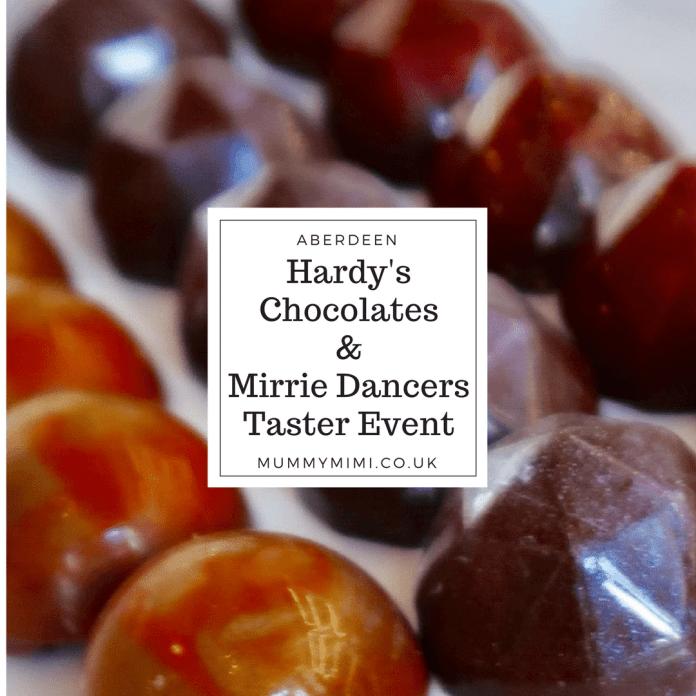 Hardy's Chocolates & Mirrie Dancers Taster Aberdeen Shetland rosemount viaduct
