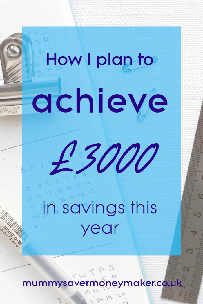 A detailed account of how I plan to achieve£3000 in savings