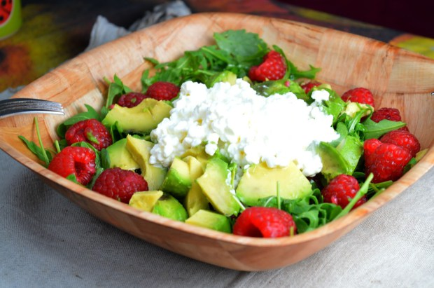 Raspberry & Cottage Cheese Salad
