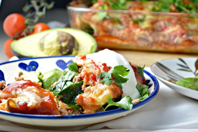 Turkey & Spinach Enchiladas