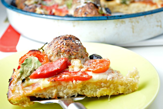 Turkey Meatball Pizza