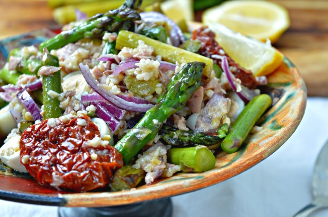 Grilled Asparagus Bulgur Salad