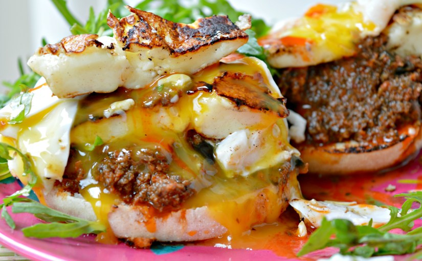 Double Halloumi Burger with Tapenade