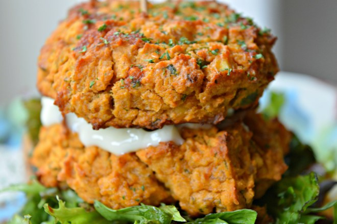 Double Chickpea Burger Toast
