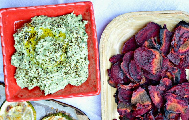 Roasted Kale & Feta Cheese Dip