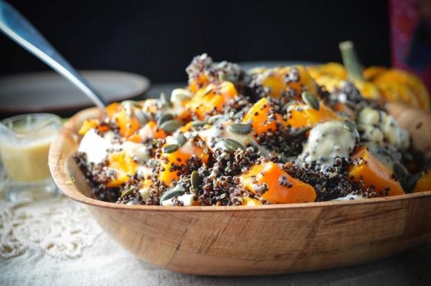 Pumpkin & Black Quinoa Salad