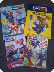 DC super friends activity books first readers