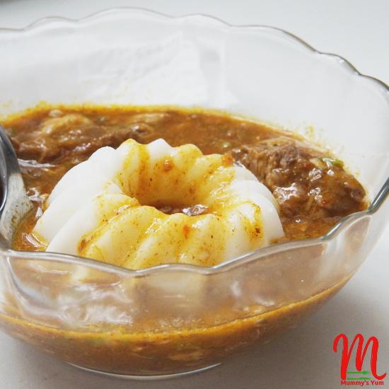 Agidi/Eko with soup
