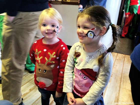 Emily and Isobel face painted