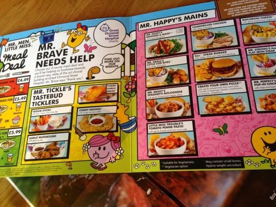 Beefeater kids menu