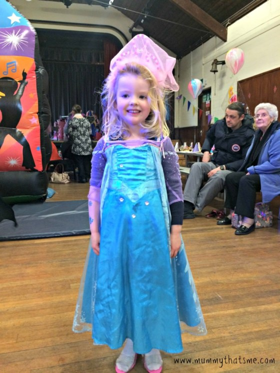 Emily dressed as elsa