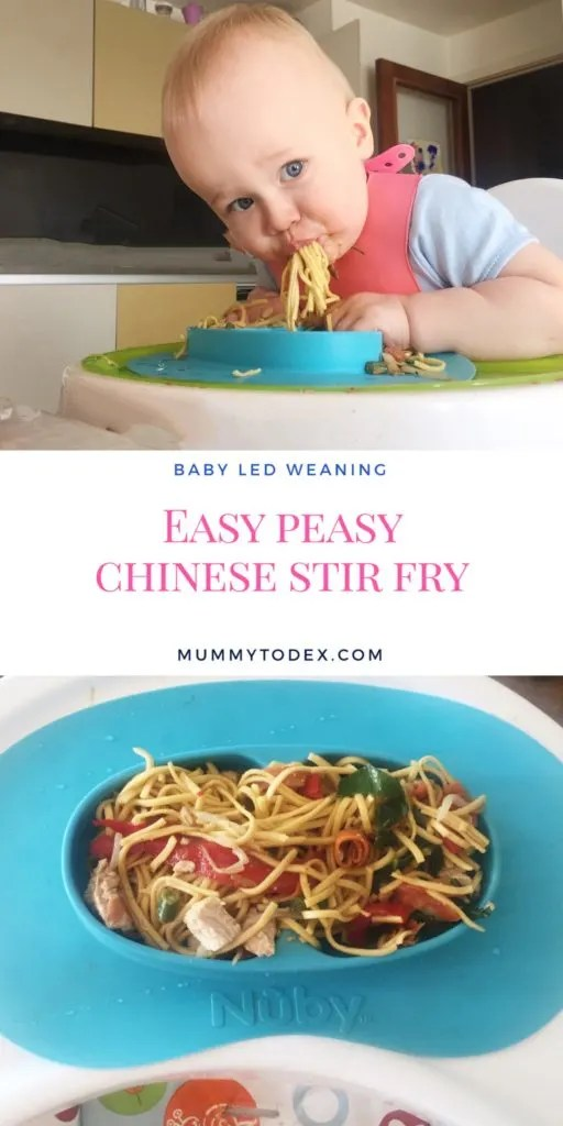 A simple and easy recipe for chinese stir fry perfect for baby led weaning or for toddlers, great for busy moms and really easy to make.