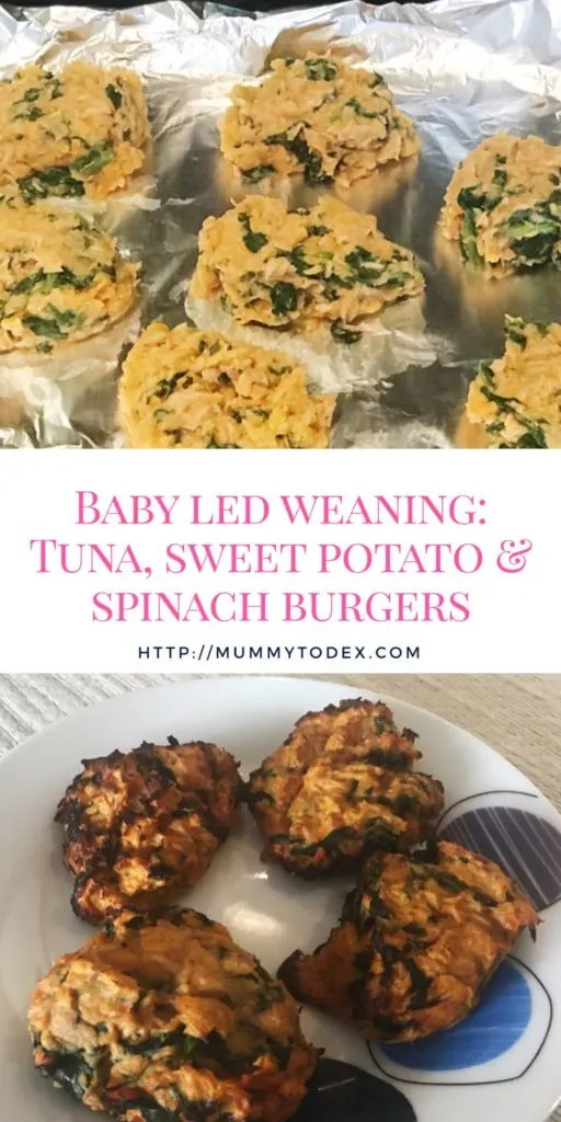 A delicious and easy recipe for baby led weaning burgers using tuna, sweet potato and spinach. Perfect for babies and toddlers, healthy and nutritious and perfect for Mums on the go.