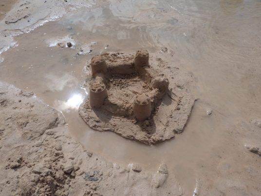 Our sandcastle!