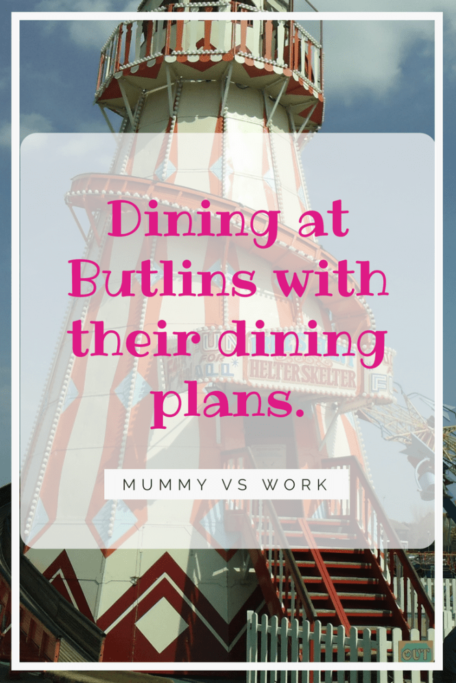 Dining at Butlins with their dining plans.