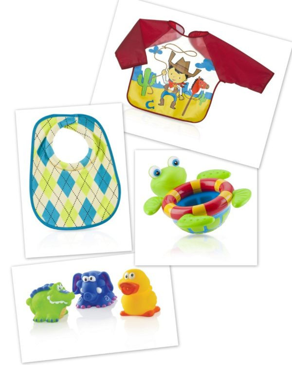 Nuby Boy bib and Bathtime bundles