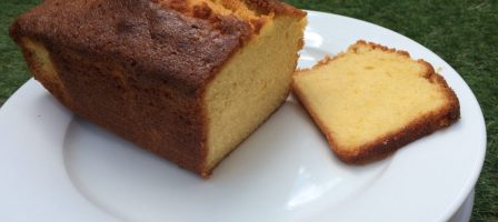 Delicious homemade madeira cake