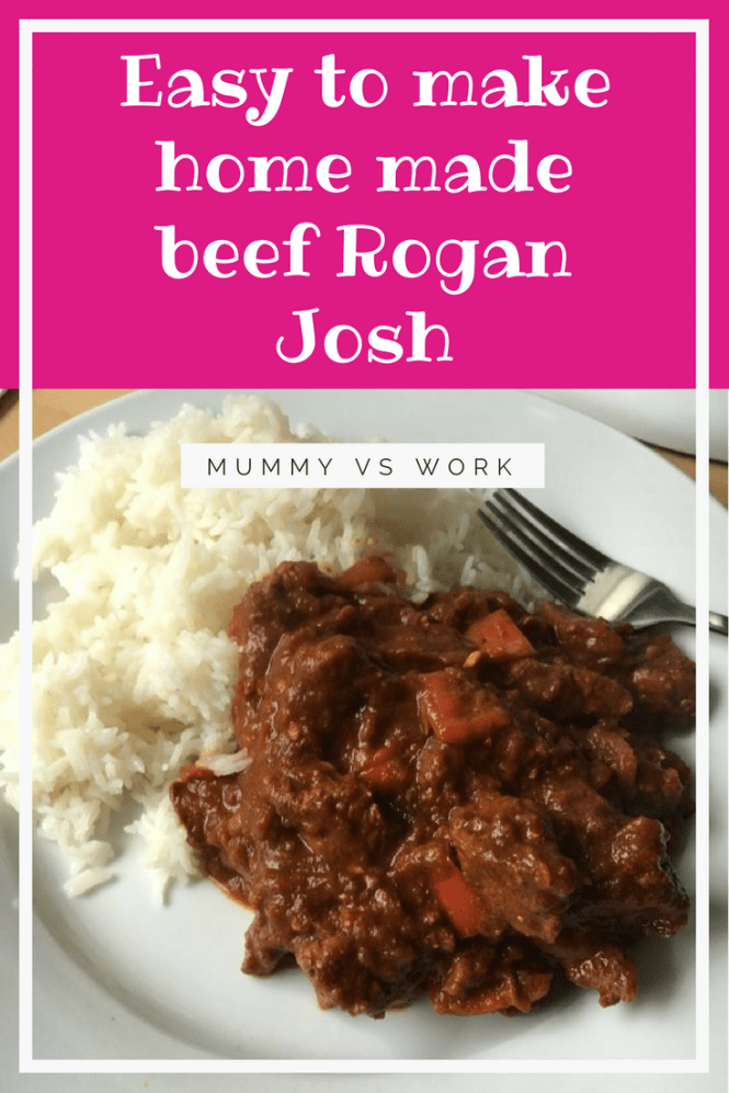 Easy to make home made beef Rogan Josh