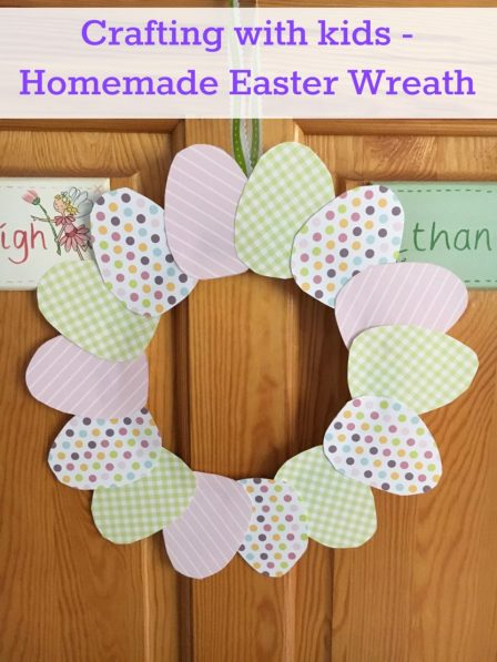 Homemade Easter wreath with Bostik